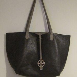 BCBG Handbag Womens Tote Shoulder Dark Grey